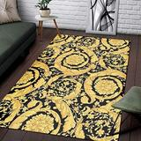 Full Pattern Gold Area Rugs Carpet Non-Slip Play Area Rug Runner Rug for Hallway Bedroom Bathroom Outdoor Dining Living Room Rugs Washable 2x3 3x5 4x6 5x8 Area Rug
