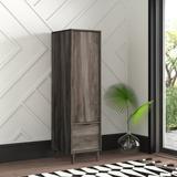 Mercury Row® Cutrer 1-Drawer Vertical Filing Cabinet Wood in Brown, Size 58.25 H x 15.5 W x 18.5 D in | Wayfair E17F968DE5764526A49F7844A2085281