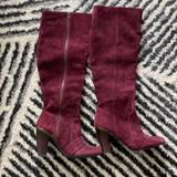 Anthropologie Shoes | Anthroplogie - Faryl Robin Knee High Boots | Color: Red | Size: 7.5