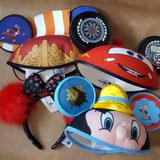 Disney Accessories   4 Used Disney Ear Hats Headband Cars Peter Pan   Color: Blue/Red   Size: Osbb