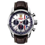 Official Hesketh Racing Chronograph Men's Watch Brown Leather Stainless Steel