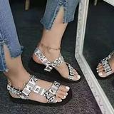 LYYJF Womens Sandals Slippers Fashion Retro Open Toe Platform Wedge Flat Sandals Casual Shoes Slippers Summer Wedge Peep Toe Sandal,White,42