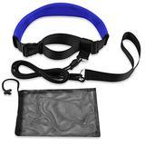QOGIR 3M Swim Training Belts: Swim Resistance Belt Swim Exerciser Belt Swim Tether for Water Aerobics, Therapy, Workouts, Pool Exercise Equipment, Aqua Training, Pool Fitness with Storage Mesh Bag