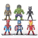Avengers Toys 6-piece Marvel Action Figures Thanos Hulk Panthers Spiderman Captain America Iron Man Action Figures Action Figures for Boys