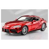 NILINMA Model car Model Vehicle 1:32 Toy Car for Toyota for Supra Toy Alloy Car Diecasts & Toy Vehicles Car Model Pull Back Model Car Toys for Children for Toddlers Boys Girls Gift (Color : Red)