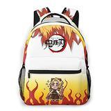 Demon Slayer Anime Kids School Backpack Travel Casual Backpack Lightweight Durable Middle Elementary Daypack Book Bag for Girls Boys