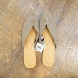 American Eagle Outfitters Shoes | American Eagle | Nwt Perforated Pointed Toe Mules | Color: Tan | Size: 7