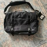 Nike Bags   Nike Eugene Elite Nylon And Leather Messenger Bag   Color: Black   Size: Os