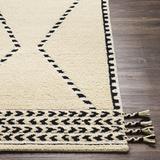 Kilmacanoge 2' x 3' Handmade Moroccan Farmhouse Wool Area Rug - Hauteloom