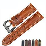 Watch Bands Cowhide Genuine Leather Wristwatch Straps Watch Parts Leather Watch Bands Straps For Men Women Watch Accessories 18mm 20mm 22mm 24mm 26mmBlack Brown (Light Brown & Black Buckle, 26mm)