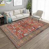 Persian Area Rug, Persian Home Indoor Area Rug with Traditional Vintage Print Pattern, for Living Room Decor, Dining Room, Kitchen Rug, or Bedroom(9,160x230cm)