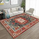 Persian Area Rug, Persian Home Indoor Area Rug with Traditional Vintage Print Pattern, for Living Room Decor, Dining Room, Kitchen Rug, or Bedroom(10,100x200cm)