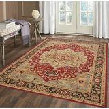 Persian Area Rug, Persian Home Indoor Area Rug with Traditional Vintage Print Pattern, for Living Room Decor, Dining Room, Kitchen Rug, or Bedroom(2,160x230cm)