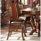 Lucky Furniture ACME Dresden Counter Height Chair (Set-2) In PU & Cherry Oak 12162Faux Leather/Wood/Upholstered in Brown | Wayfair