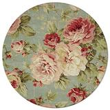 Round Area Rugs 6 ft Vintage Rose Floral Flowers Soft Floor Carpets Indoors/Outdoor Living Room/Bedroom/Children Playroom/Kitchen Mats Non Slip Yoga Carpets