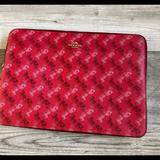 Coach Bags | Coach Bag 14 Laptop Sleeve Case | Color: Cream/Red | Size: Approx: 14.5 (L) X 10.5 (H) X 1 (W)
