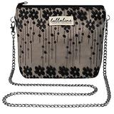 """Ivy Lace Pochette Bag - Black L8"""" x H10"""" x CHAIN STRAP 45"""" with ZIP CLOSURE, Daily Use for Every Occasions Crossbody Shoulder Makeup Cosmetic Wallet Purse Bag with Detachable Chain Strap"""
