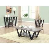 Latitude Run® Gunbritt 3 Piece Coffee Table Set in Black/Gray, Size 16.5 H x 23.25 W x 47.25 D in   Wayfair 1108B90B87824774A46602E56D40D576
