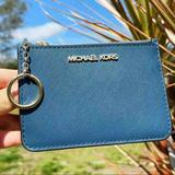 Michael Kors Bags   Gabysbags-Nwt Michael Kors Zip Coin Wallet   Color: Blue/Green   Size: Os