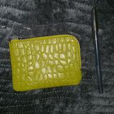 Free People Bags | Free People Leather Wallet Coin Purse Zipper | Color: Green | Size: Os