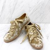 Anthropologie Shoes   Anthropologie- Bill Blass Crushed Velvet Oxfords   Color: Gold/Yellow   Size: 6.5
