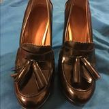 Coach Shoes | Coach Black Platform Heels Shoes 8b Tassle Euc | Color: Black | Size: 8