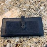 Madewell Bags | Madewel Leather Checkbook Wallet | Color: Black | Size: Os