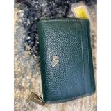 Michael Kors Bags | Michael Kors Zip Around Leather Wallet | Color: Green | Size: Os
