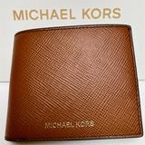 Michael Kors Bags | Mk Mens Leather Billfold Wallet With Passcase | Color: Brown | Size: 4.5 L(Fold)9 L (Open) X 3.75 H.