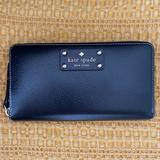 Kate Spade Bags   Kate Spade Leather Long Zip Around Wallet   Color: Black   Size: Os