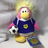 Disney Toys   Club Penguin Code Soccer Player Girl Plush 8   Color: Blue/Red   Size: 8 Inches Tall