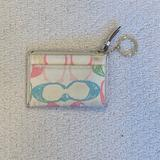 Coach Bags | Coach Multicolor Key Chain, Coin Purse, Id Holder | Color: Pink/White | Size: Os