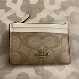 Coach Bags | Coach- Coin And Credit Card Wallet | Color: Cream/White | Size: Os