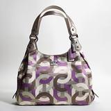 Coach Bags   Coach Madison Maggie Chain Link Bag   Color: Gray/Purple   Size: Os
