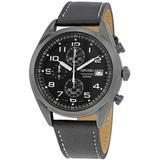 Neo Sports Chronograph Black Dial Mens Watch - Black - Seiko Watches