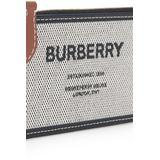 Logo Clutch Bag - Metallic - Burberry Clutches