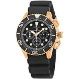 Prospex Sea Diver's Chronograph Black Dial Watch - Black - Seiko Watches
