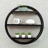 GAOXQFEI Living Room Wall-Mounted Shelf/Solid Wood Round Shelves/Bookshelf/Wall Bar Display Rack/Wall-Mounted Wall Shelf/Three Colors Optional Shelves/Partition Wall Shelf / (60 19 60Cm),Black