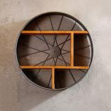 GAOXQFEI Dining Room Storage Cabinet/Wall-Mounted Shelf/Wall-Mounted Iron Wall-Mounted Shelf/Wall-Mounted/Wall-Mounted Shelf/Wall-Mounted Vintage Nostalgia Shelf/Kitchen Wall-Mounted Shelf /(51 12
