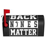 """Lei312gu Back Nines Matter Golf Magnetic Mailbox Cover Garden Yard Home Decor for Outdoor Standard Size 18"""" X 21"""" Mailbox Wraps Post Letter Box Cover Home Garden Decorations"""