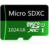 1024GB Micro SD SDXC Card High Speed Class 10 Flash Memory Card with SD Adapter for Android Smartphones and Tablets (A-1024GB)