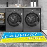 Comfort Mat Laundry Room Rug Laundry Carpet Runners Laundry Room Rug Laundry Mat for Wash Room Non Skid Farmhouse Floor Mat Non-Slip Rubber Area Rug 2x4