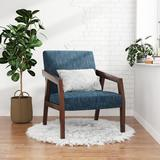 George Oliver Arm Chair Accent Chair, Wooden Mid-century Modern Accent Chairs, Elegant Upholstered Lounge Chair For Living Room, Bedroom   Wayfair