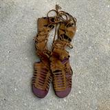 Free People Shoes | Free People Lace Up Suede Sandals | Color: Tan | Size: 7.5