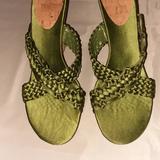 Nine West Shoes | Nine West. Cork Wedge Shoes, Size 7.5m | Color: Green | Size: 7.5