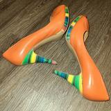 Nine West Shoes   Nine West Danee Orange Trapical Peeptoe Heel   Color: Orange/Yellow   Size: 8.5