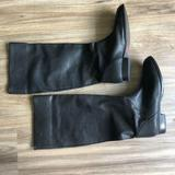 J. Crew Shoes | J. Crew Flat Riding Booker Boots Knee Made Italy | Color: Black | Size: 6.5