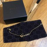 Gucci Jewelry | Gucci 18k Logo Bracelet | Color: Gold/Yellow | Size: 18.3
