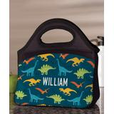 Personalized Planet Lunch Bags and Lunch Boxes - Blue & Green Dinosaurs Personalized Name Lunch Bag