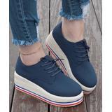 ROSY Women's Sneakers Navy - Navy Platform Espadrille Sneaker - Women